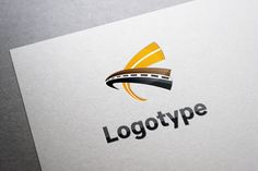 Logotype transportation, road by ludmila.derevyankina on @creativemarket