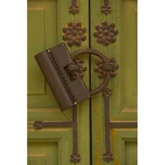 Metal Door Lock Changgyeonggung Palace Complex Seoul South Korea Canvas Art - Ellen Clark DanitaDelimont (24 x 36)