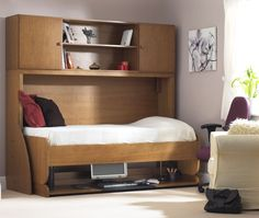 Fold away bed for small/study room. Fold up without disturbing anything