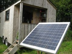 Solar panel. From Teach Nollaig, Tiny house in Ireland. - -  To connect with us, and our community of people from Australia and around the world, learning how to live large in small places, visit us at www.Facebook.com/TinyHousesAustralia