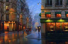Beautiful Night Cityscapes Paintings – Fubiz Media