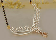 Diamond Mangalsutra by PN Gadgil & Sons Diamond Mangalsutra, Gold Mangalsutra Designs, Gold Diamond Earrings, Ring Earrings, Gold Ring, Gold Necklace, Diamond Necklaces, Diamond Rings, Gold Pendent