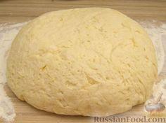 Фото приготовления рецепта: Тесто на дрожжах для пирожков, пышек и пончиков, жаренных во фритюре - шаг №9
