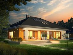 If you planning to have small house , you must see this Single storey inspirational house + plans Bungalow Haus Design, Modern Bungalow House, Cottage Style House Plans, Bungalow House Plans, Family House Plans, Best House Plans, Modern House Plans, Small House Plans, House Design