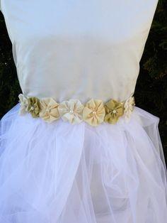 Pasek  do sukienki  spódniczki/Flowergirl belt w KKstyle na DaWanda.com Girls Dresses, Flower Girl Dresses, Wedding Dresses, Flowers, Summer, Etsy, Fashion, Dresses Of Girls, Bride Dresses