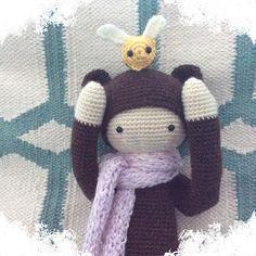 BINA the bear made by Glora G. / crochet pattern by lalylala