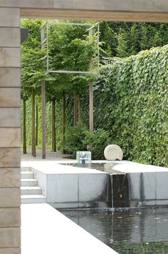 love the greenery and mood. Modern landscape architecture by Filip Van Damme Contemporary Garden Design, Modern Landscape Design, Modern Landscaping, Contemporary Landscape, Landscape Architecture, Garden Landscaping, Landscaping Ideas, Natural Landscaping, Privacy Landscaping