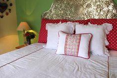 "Hand embroidered plaid on White eyelet fabric  San Antonino Sham Scarlett ""O"" collection Mexico, Tenango, wedding, textile, mexican suzani, embroidery, hand embroidered, otomi, fiber art, mexican, handmade,  casa, decor, interior, frida, kahlo, folk,  folk art, house, home, puebla, las flores, cushion, serape, preppy, gingham, polka dots, pink, lime, green, lily pulitizer, pouf, elle decor, boho, style, bestey johnson, lily pultizer, interior, stripes, southern living, southern style,"