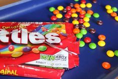 Party Game Idea: Skittles Candy Vacuum Game minute to win it idea Rainbow Parties, Rainbow Birthday Party, Birthday Party Games, Birthday Celebration, Birthday Ideas, Baby Birthday, Games For Kids, Activities For Kids, Kid Games