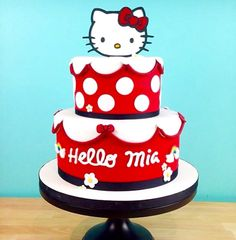 Duff Goldman's cake studio featured on Food Network's Ace of Cakes. Hello Kitty Theme Party, Hello Kitty Birthday Cake, Hello Kitty Themes, Birthday Cake Girls, Hello Kitty Torte, Torta Hello Kitty, Cute Cupcakes, Cute Cookies, Anniversaire Hello Kitty