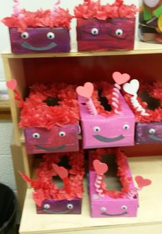 Valentine Decorated Boxes 2Nd Grade Valentine's Day Card Holder Decorated Box  We Made