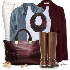 """""""White Jeans and Riding Boots"""" by angkclaxton on Polyvore"""