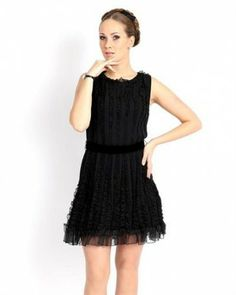 Red Valentino 100% Silk Ruffled Dress - Dresses - Apparel at Viomart.com