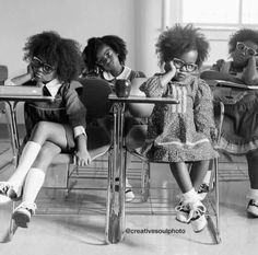 Fashionista princesses sitting in class...