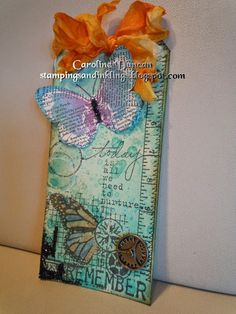 Tag by Caroline Duncan ~ stampingsandinklings.blogspot.com Unity Stamps, Donna Downey, butterfly