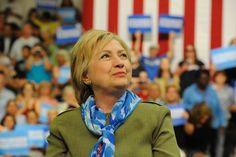 Image: Hillary Clinton - Democratic presidential nominee Hillary Clinton listens…