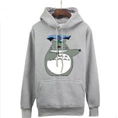 Camplayco Tonari no Totoro Logo Cosplay Gray Hoodies Pullover Warm Coat Size S * Click on the image for additional details.