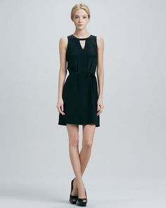 Yasmin Belted Silk Dress by Cusp by Neiman Marcus at Neiman Marcus.