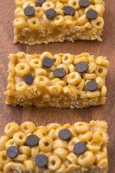 Healthy 4 Ingredient No Bake Protein Cereal Bars FoodBlogs.com