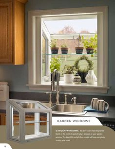 many people make a modern kitchen garden window at their home. Besides, the window is a vital need to have a good circulation of air at home Kitchen Garden Window, Garden Windows, Window Ideas, Window Boxes, Luxury, Modern, Diy, Home, Trendy Tree