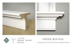 WindsorONE Greek Revival Stool Buildup, (buildup of WOCS007, WOCV001 & WOWS001), part of the Classic American Molding Collection