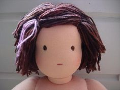 waldorf doll hair tutorial
