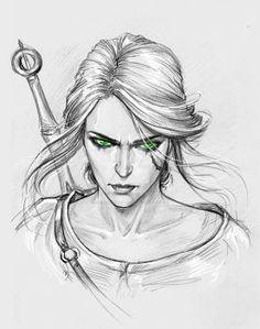Ciri witcher, witcher art, witcher 3 wild hunt, the witcher fantasy char The Witcher 3, Ciri Witcher, Witcher Art, Fantasy Kunst, Fantasy Art, Character Drawing, Character Design, Drawing Sketches, Art Drawings