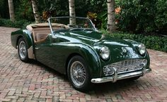 1958 Triumph TR3 In Racing Car Green