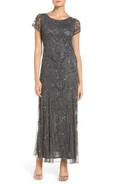Pisarro Nights Pisarro Nights Embellished Mesh Gown available at Mother Of Bride Outfits, Mother Of Groom Dresses, Mothers Dresses, Mob Dresses, Bride Dresses, Wedding Dresses, Dressy Dresses, Nordstrom Dresses, Special Occasion Dresses