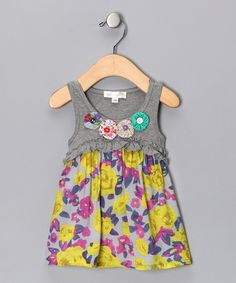 Gray Floral Tunic - Infant, Toddler & Girls on Zulilly. Can't decide if I like it or not?!