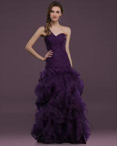 Vestidos de fiesta con volantes, volados o ruffles #vestidosdefiesta #tendencias2014