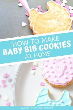 Precious Baby Bib Cookies - Into the Cookie Jar Cookie Recipes For Kids, Baking Recipes, Dessert Recipes, Dessert Ideas, Desserts, Best Sugar Cookies, Sugar Cookies Recipe, Yummy Cookies, Cut Out Cookies