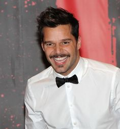 """Actor Ricky Martin attends the """"Evita"""" Broadway revival curtain call and press conference at the Marriott Marquis Hotel on March 12, 2012 in New York City."""