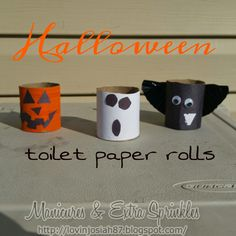Manicures and Extra Sprinkles: #Halloween Toilet Paper Rolls!!! #easy and #KidApproved!