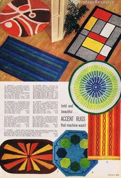 1960's accent rugs