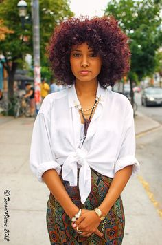 I hope this is whay my newly dyed hair looks like in the light. #BlackCherry #NaturalHair