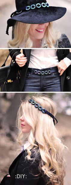 #DIY Looping Circles Accessory #hat #belt #hair