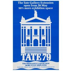 Return to the Tate home page Yves Klein Blue, Museum Art Gallery, Tate Gallery, Art Exhibition Posters, Exhibition Space, Tate Britain, Blue Poster, Retro Font, Vintage Posters
