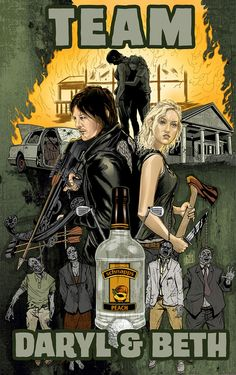 Team Daryl & Beth -- I know they gotta be tough in the apoc, but i just kept waiting for her to say SOMETHING about her hangover...mud snake and moonshine...whew...rough night....She's tougher than we thought!!!