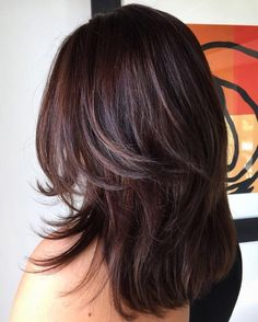 Inspiration by Ally Towery from Salon Salon. rich chocolate brown hair #avedacolor @bloomdotcom