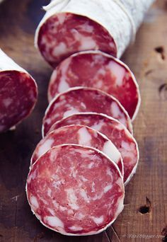Advanced Meat Curing Chamber At Home - Taste of Artisan- Meat Curing Chamber – Finished Sopressata Homemade Playdoh Recipe, Homemade Sausage Recipes, Salami Recipes, Meat Recipes, Specialty Meats, Smoking Recipes, Dehydrated Food, Prosciutto, Food And Drink
