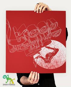 All sizes | Keep dreaming on - poster, via Flickr.