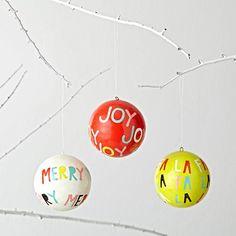 Glad Tididings Ornaments (Set of 3)  | The Land of Nod
