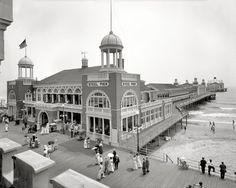 "The Jersey Shore circa 1910. ""Steel Pier, Atlantic City."""