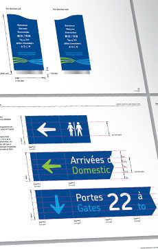 Signage and wayfinding for Aéroport international Jean-Lesage de Québec by Parallèle #airport #design