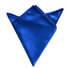 Available now for $0.78 is this Men's Silk Satin Pocket Square Hankerchief Hanky Plain Wedding Royal Blue Hot h