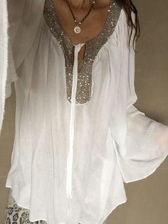 Bluse Shirt Tunika Neu! TOP!!! 36 38 40 42 S M L Weiß Italy | eBay