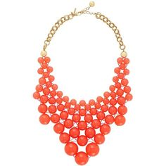 Pantone Color of the year: Tangerine Tango Kate Spade Dotz Bib Necklace Jewelry Accessories, Fashion Accessories, Jewelry Design, Jewelry Sets, Kate Spade Necklace, Pantone Color, Sneakers, Designer, Jewelery