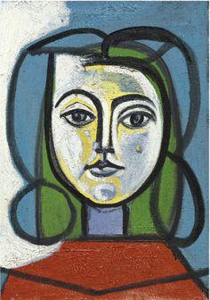 Pablo Picasso- Tete De Femme - Portrait De Francoise |Pinned from PinTo for iPad|
