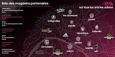 #boostbirhakeim - Liste des magasins partenaires - Adidas©
